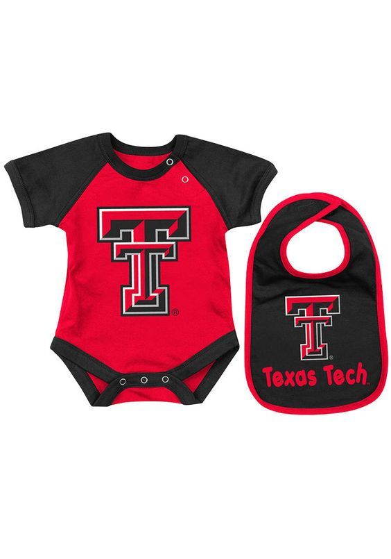 Texas Tech Red Raiders Infant Red Onsie  http://www.rallyhouse.com/shop/texas-tech-red-raiders-colosseum-texas-tech-red-raiders-infant-red-onsie-bib-set-15031927 $19.95  #TTAA #SupportTradition #Wreckem