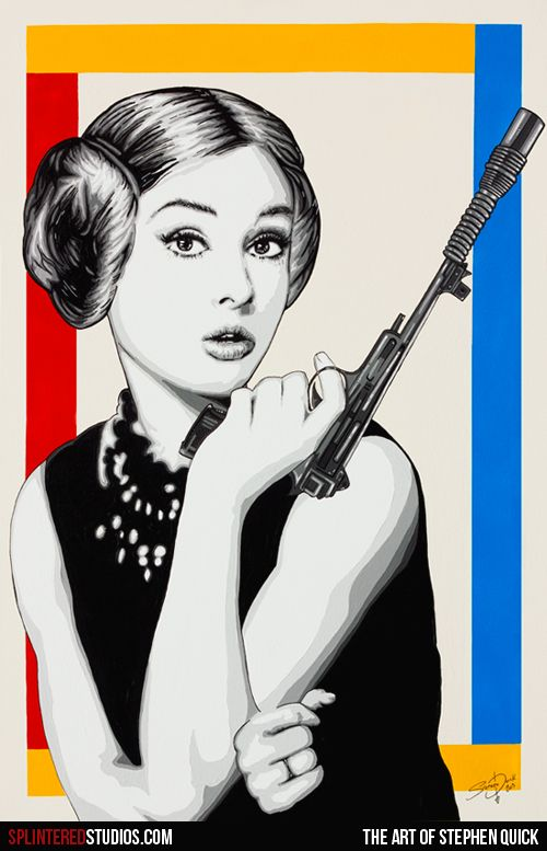 Star Wars / Hepburn Mash Up Art
