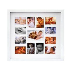 12-Month White Baby Collage Frame    cute for Eli's room