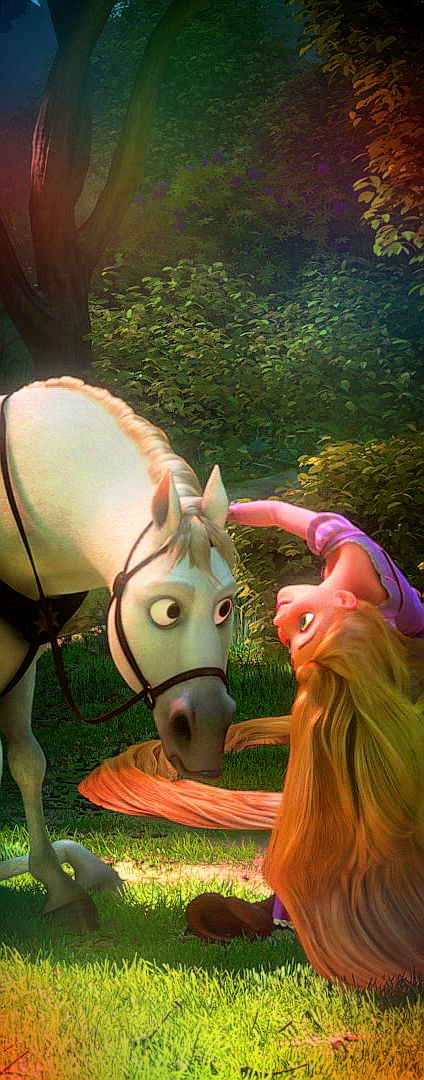 let's just appreciate the fact that the horse listens to Rapunzel, and absolutely hates Flynn's guts