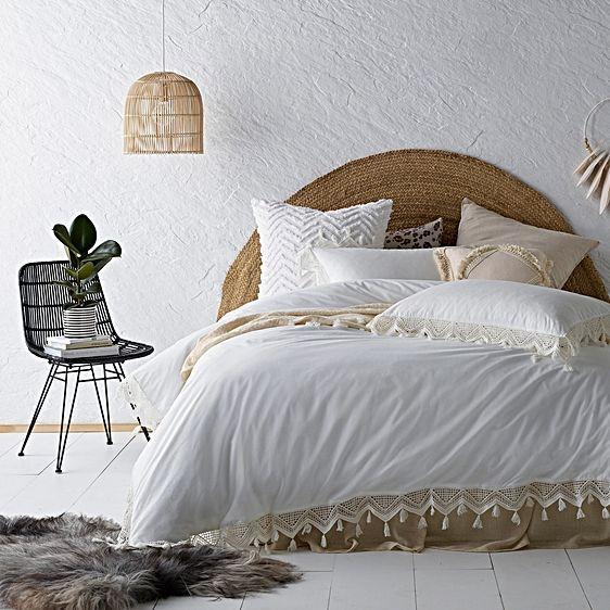 Tassel Stonewashed Cotton Quilt Cover Set By Vintage Design Homewares Zanui Quilt Cover Cotton Quilt Covers Quilt Cover Sets