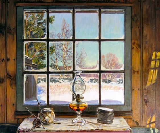 ROBERT STRONG WOODWARD Frost on the Window