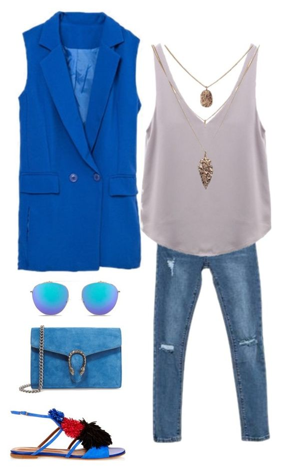 """THURSDAY'S OUTFIT"" by maellog on Polyvore featuring Malone Souliers, Gucci, polyvorestyle, polyvoreoutfit and polyvoreset:"