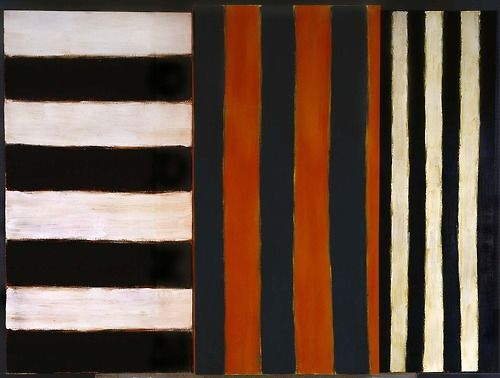"peinture abstraite UK (irlandaise) : Sean Scully, ""Maesta"", rayures"
