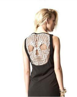 Skull-back Dress