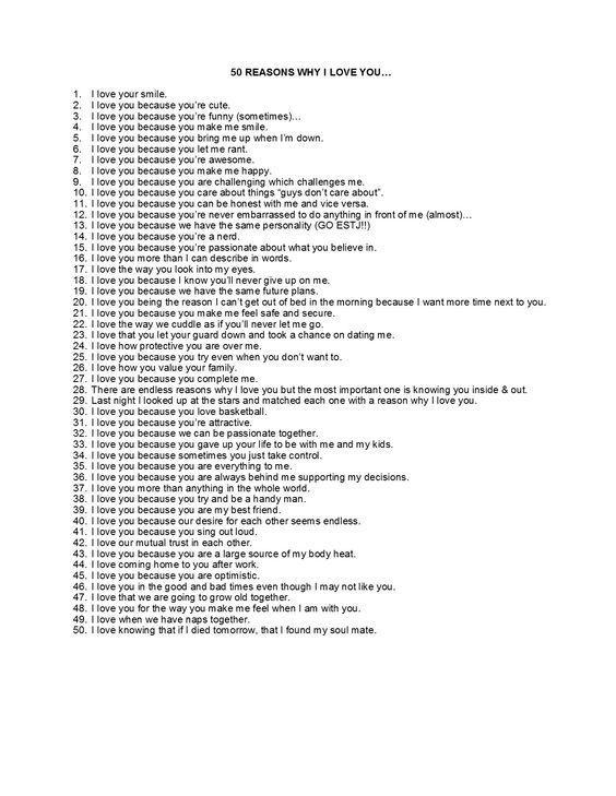 50 Reasons Why I Love You 52reasons Diy Geschenke Liebe