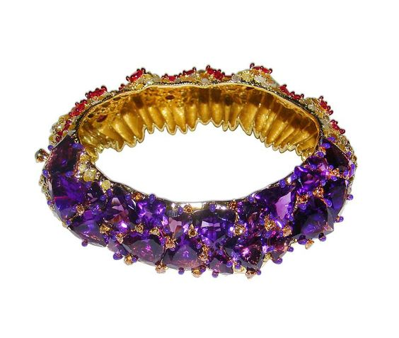 Amethyst bangle by India Radiant Orchid