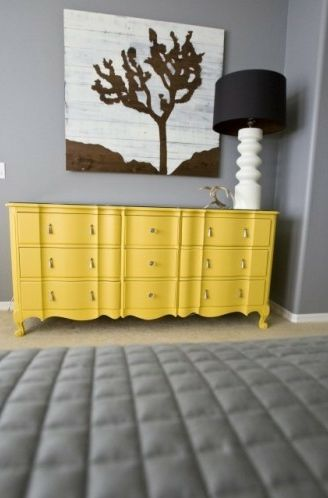 Take your vintage/traditional furniture and add a bold color