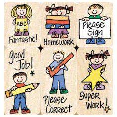 Teacher Homework Rubber Stamp - image 10