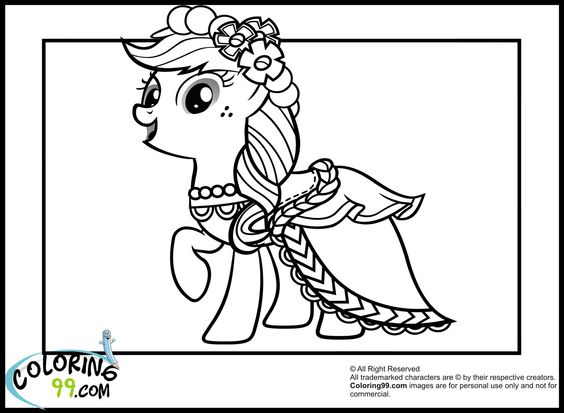 Apple Jack with her gala dress My little pony Pinterest Gala - best of sonic battle coloring pages