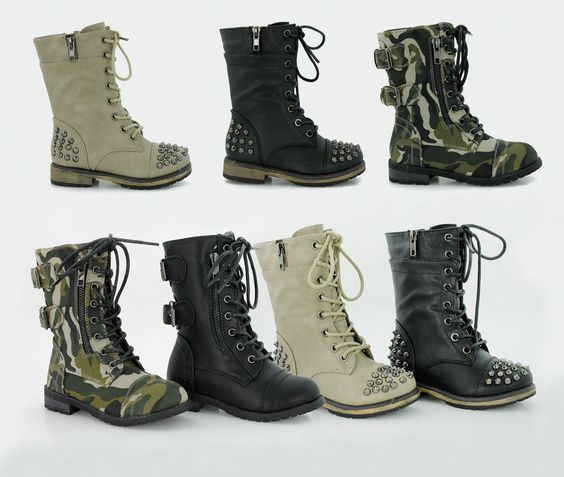 Boys Combat Boots - Cr Boot