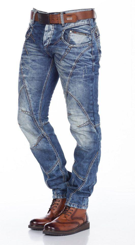 Cipo & Baxx T Shirt, Unifarbenes V Shirt online kaufen
