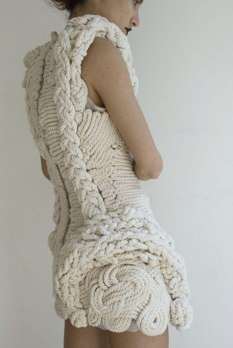 Knitting Knots Rolde : Nautical rope knot dress runway street pinterest