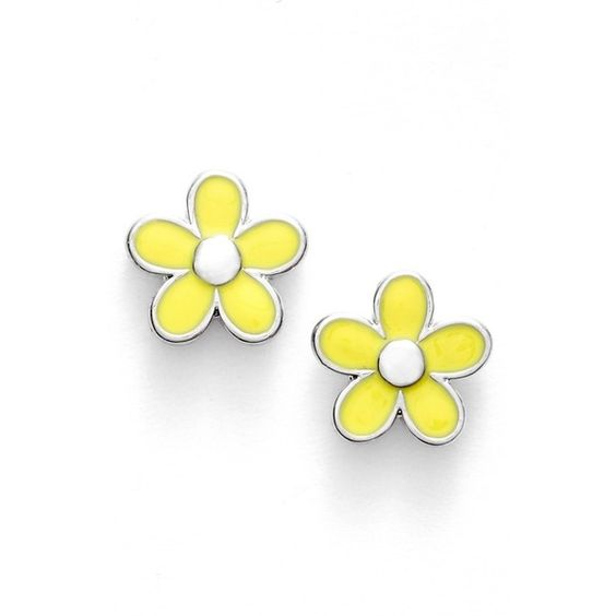 MARC BY MARC JACOBS 'Carry Forward' Flower Stud Earrings found on Polyvore