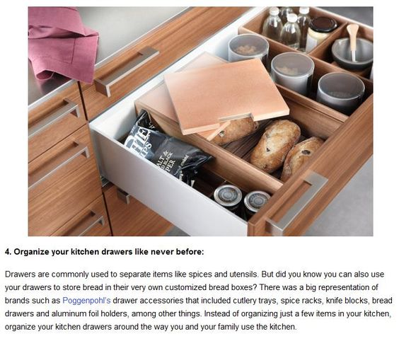 Bread and Coffee drawer. (From Top 10 Kitchen Trends of 2014)