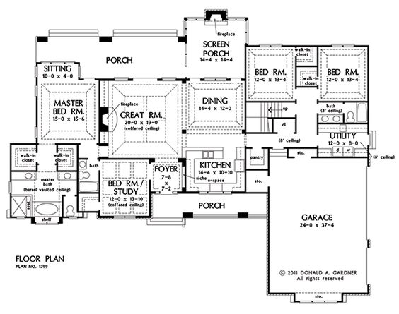 The markham house plan images see photos of don gardner for Don gardner floor plans