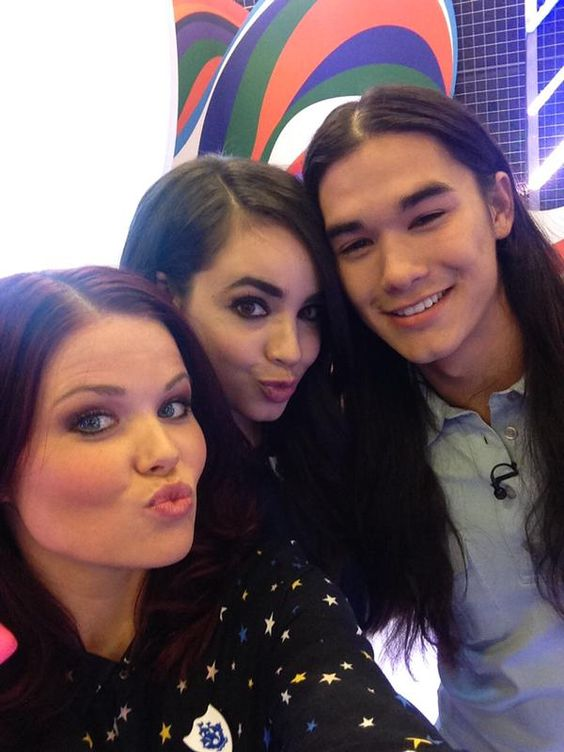 Sofia Carson and Booboo Stewart for the Press Day in London
