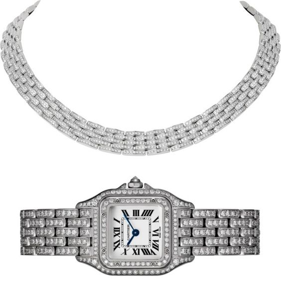 Cartier Panthere De Cartier Watch Ref. HPI01129 paired with Cartier Maillon Panthere Thin Necklace Ref. N7408500