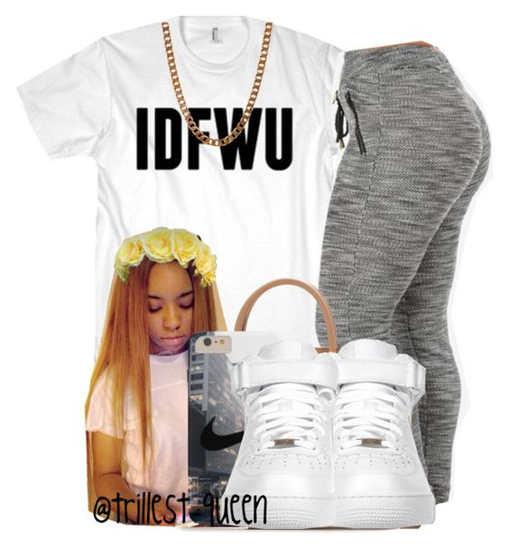 """""""@trillest-queen"""" by dolliez-dopestore ❤ liked on Polyvore featuring MICHAEL Michael Kors, NIKE and Lovebullets"""