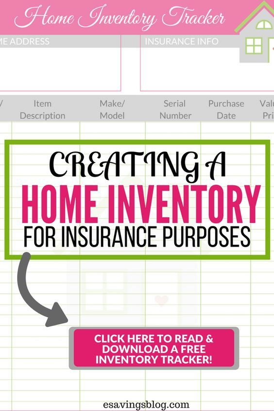 Create A Home Inventory For Insurance Purposes Home Inventory