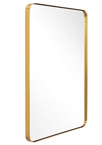 Andy Star Bathroom Mirror Contemporary, Brushed Stainless Bathroom Mirror