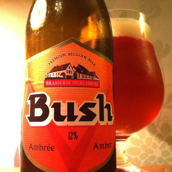 Bia Bush Amber Triple 12% - Chai 750ml