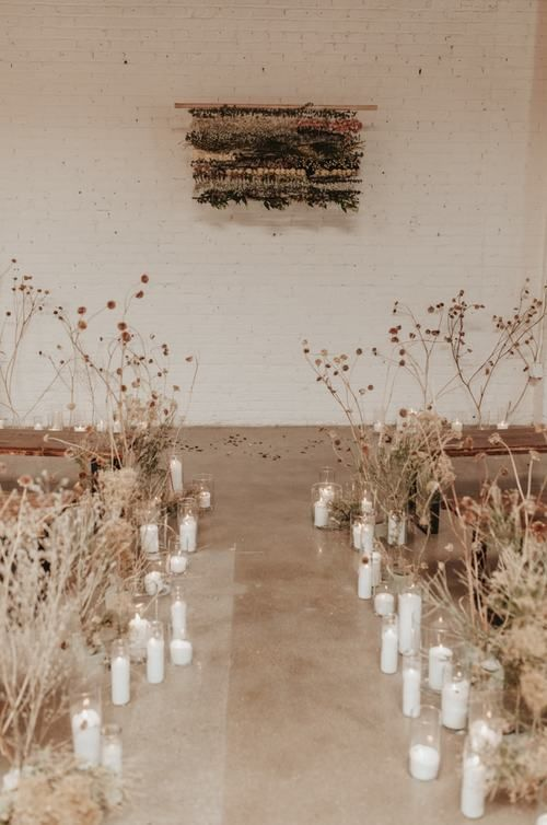 Wedding ceremony with dried flowers | Karra Leigh photography