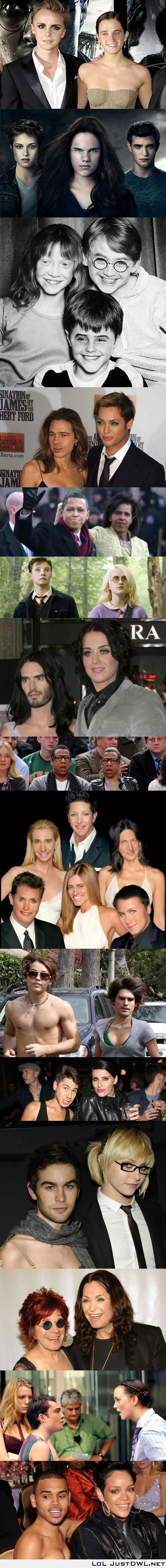 #Celebrity face #swap The best of.: