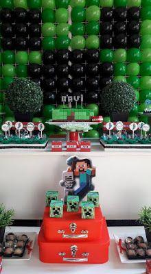 Balão de Papel: Festa Minecraft