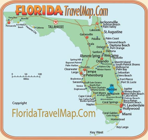 florida map of theme parks