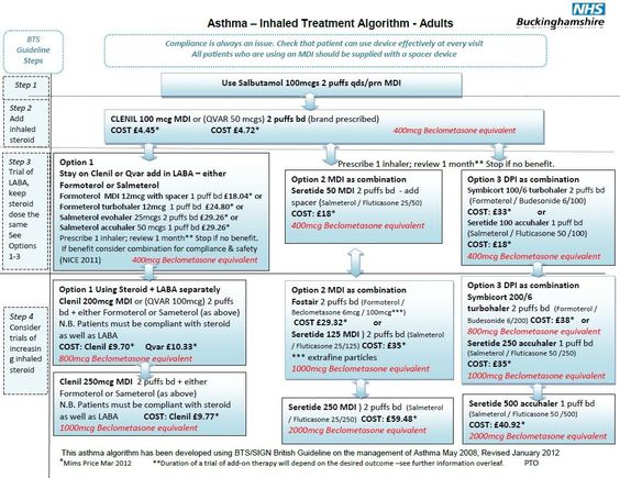 Adult Asthma Treatment Algorithm *** You can find out more details - sample asthma action plan