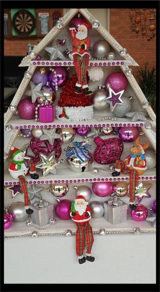 How to make a Christmas Tree shelf DIY Festive Christmas Tree