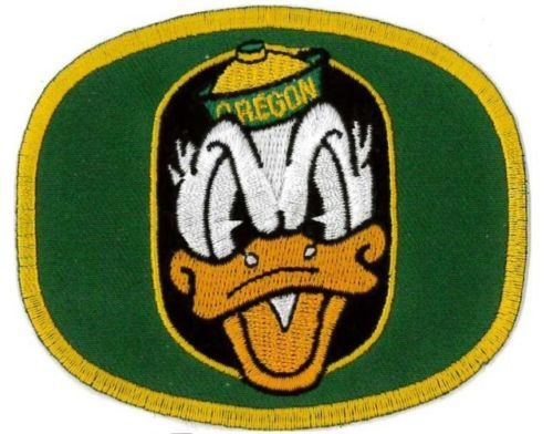 OREGON DUCKS Iron On PATCH about 3.5 x 3 inches by Patchnpatterns
