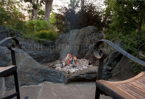 Elevate: Boulder Fire Pit with Large Bluestone Patio