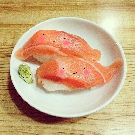 Sushis & wasabi.