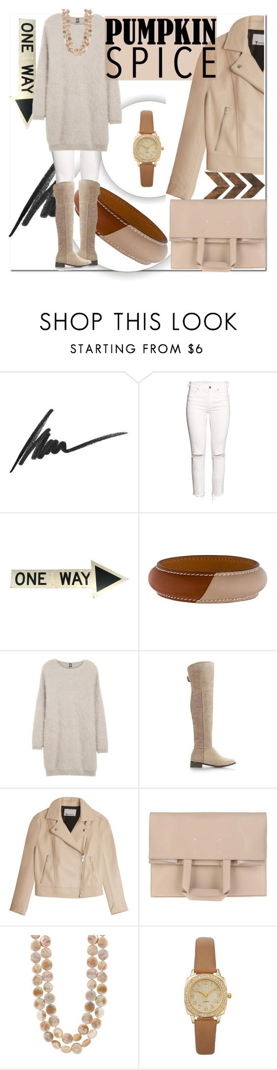 """Sans titre #521"" by sarabutterfly ❤ liked on Polyvore featuring Max Factor, H&M, Hermès, Eleventy, T By Alexander Wang, Maison Margiela and WALL"