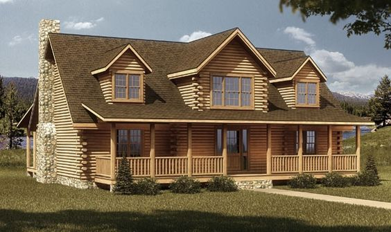 2 bedroom log cabin homes uinta log home builders utah for 2000 sq ft log cabin cost