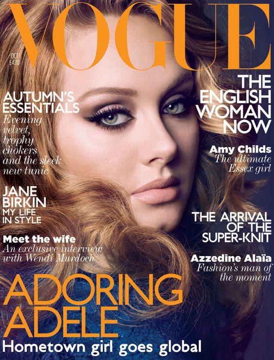 British Vogue October 2011: Magazine Covers, Adele Vogue, Makeup Inspiration, British Vogue, Adoring Adele, Vogue Cover, Adele S, Adele Makeup