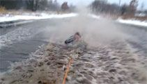 Video: Dad Turns a Fun Sledding Ride Into a Wet Mess - A Funny Video on KillSomeTime