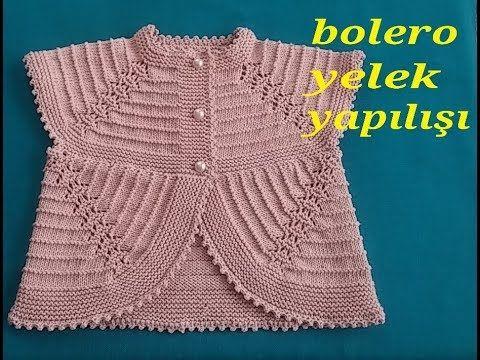 2 3 Yas Yakadan Baslanan Robadan Artirma Yapilarak Ilerleyen Dikissiz Tek Parcadan Orulen Bir Bebek Bolero Baby Knitting Patterns Orgu Tig Isi Bebek Elbiseleri