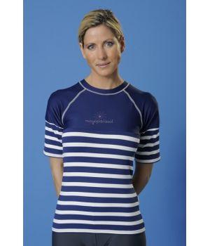 maillot de bain femme t shirt femme une piece raglan uv 50. Black Bedroom Furniture Sets. Home Design Ideas
