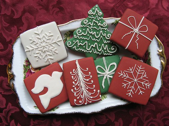 Simple and elegant christmas cookies by unique cookie