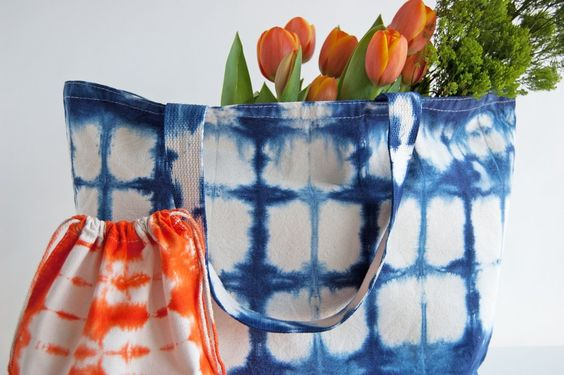 - a perfect oversized tote bag for the beach or the park or the farmers market or anywhere you need a large, but easy to carry tote! hand dyed shibori with love