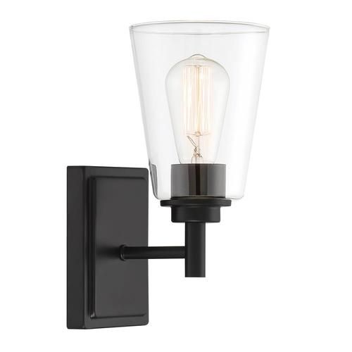 Designers Fountain Westin 5 25 In W 1 Light Matte Black Modern Contemporary Wall Sconce At Lowe In 2020 Designers Fountain Contemporary Wall Sconces Black Wall Sconce