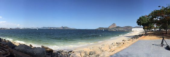 Panorama of the medal race course today @Rio2016_en @worldsailing #BringOnTheGames