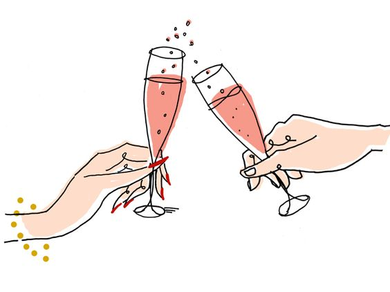 CLINK! #illustration #champagne #holiday