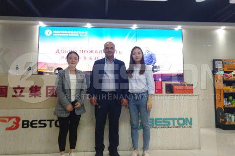 Https Www Bestongroup Com Customer From Azerbaijan Visited Beston Carbonization Machine Factory Azerbaijan Making Machine Distillation