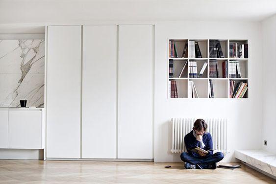 :: INTERIORS :: Appartment Poissonniere - Frederic Berthier Architecture featured on Plastolux - love this entire apartment, beautiful details #interiors