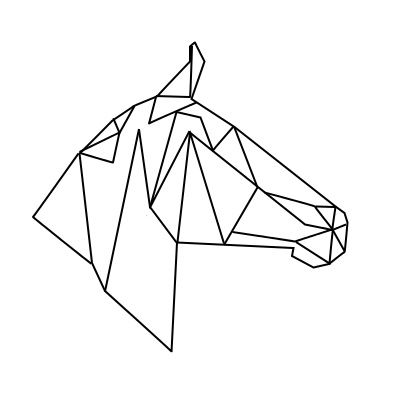 geometric geometrique horse cheval head tete mon logo pinterest chevaux. Black Bedroom Furniture Sets. Home Design Ideas