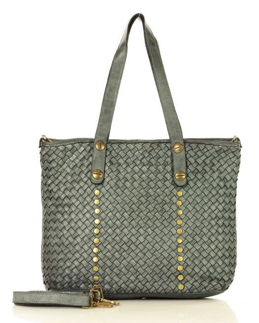 Mazzini Marco Mazzini Torebka Shopper Bag Skorzana Old Pelle Lavata Szara Merg Pl Diaper Bag Bags Diaper